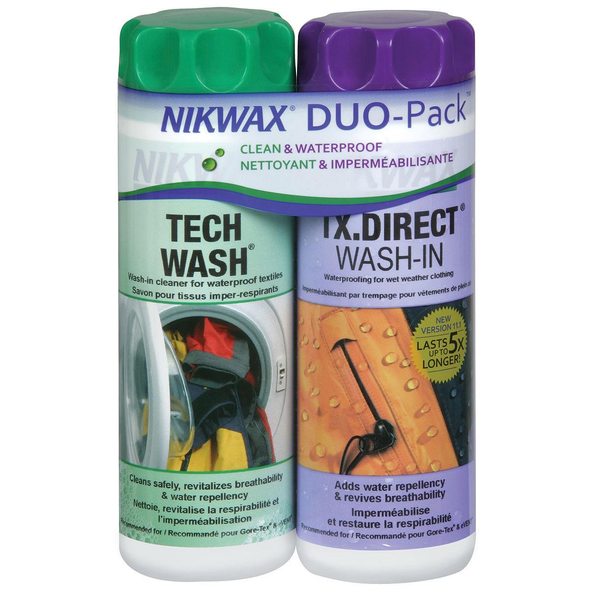 photo: Nikwax Hardshell DuoPack fabric cleaner/treatment