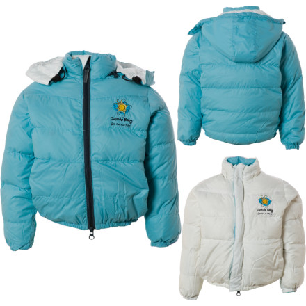 photo: Outside Baby Girls' Reversible Down Jacket down insulated jacket