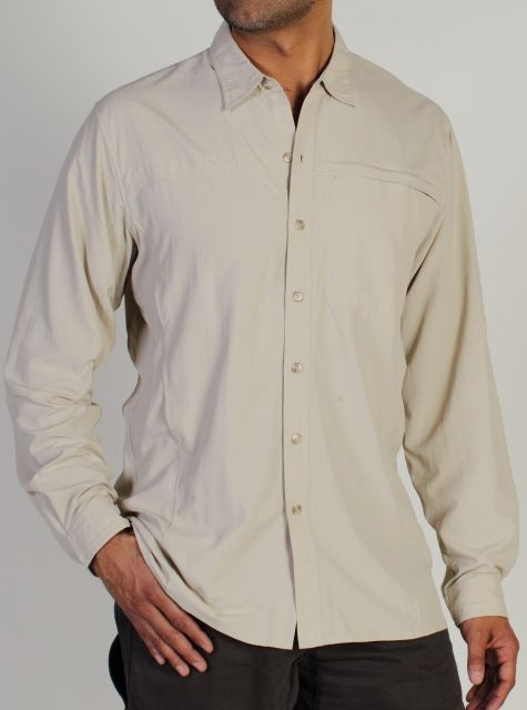 photo: ExOfficio BugsAway Chas'r Long-Sleeve Crew hiking shirt