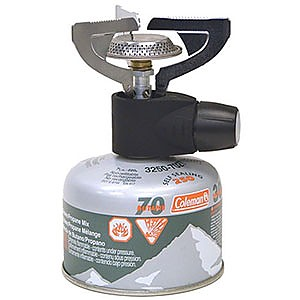 photo: Coleman Micro Backpack Stove compressed fuel canister stove