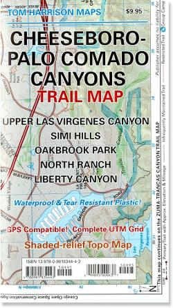 Tom Harrison Maps Cheeseboro - Palo Comado Canyons Trail Map