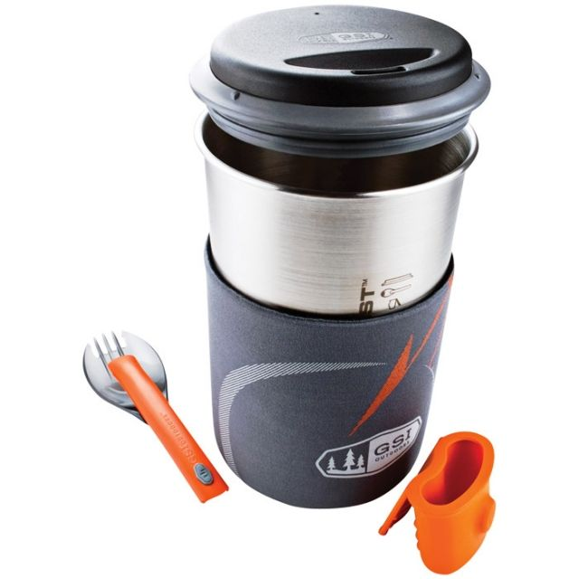 GSI Outdoors Glacier Stainless Steel Minimalist Cookset