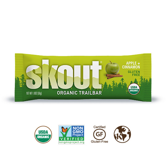 photo: Skout Organic Apple + Cinnamon Trailbar nutrition bar