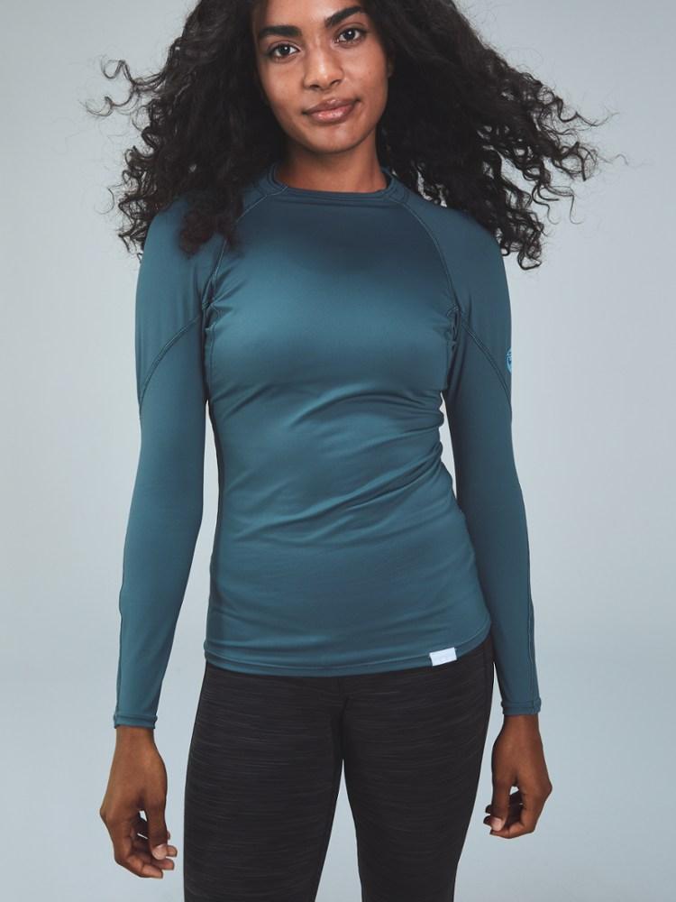 photo: NRS Women's H2Core Rashguard Long-Sleeve long sleeve paddling shirt