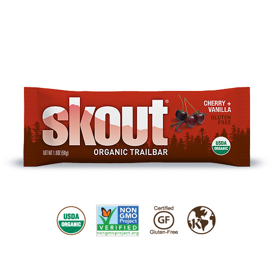 Skout Organic Cherry + Vanilla Trailbar