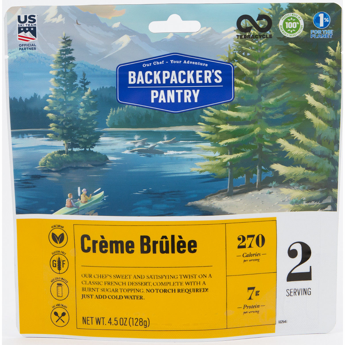 photo: Backpacker's Pantry Creme Brulee dessert