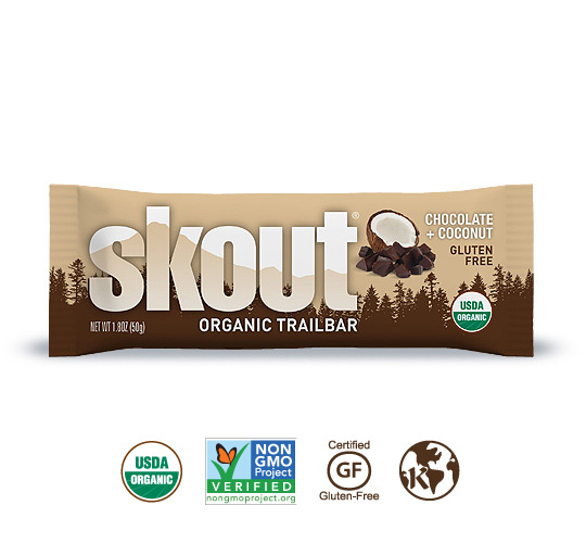 Skout Organic Chocolate + Coconut Trailbar