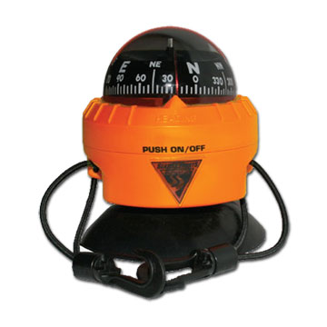 photo: Seattle Sports Nightquest LED Deck Compass marine compass