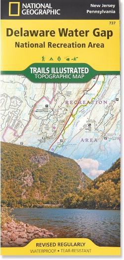 photo: National Geographic Trails Illustrated Delaware Water Gap Map us northeast paper map