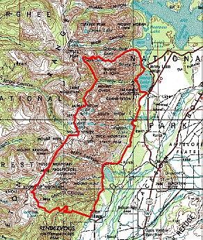 Route-for-5-to-6-day-hike-in-the-Tetons.