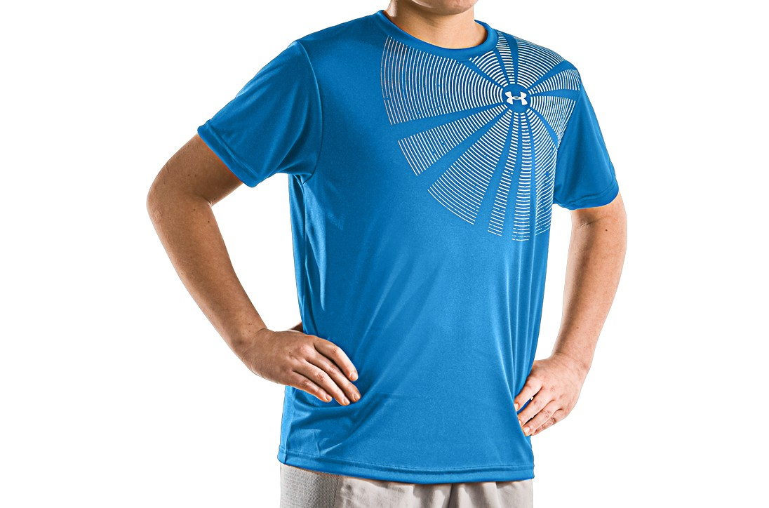 Under Armour HeatGear Spiral Logo Graphic T Shirt