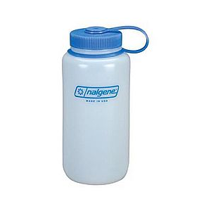 photo: Nalgene 32 oz Wide Mouth HDPE water bottle