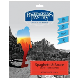 photo: Backpacker's Pantry Spaghetti & Sauce vegetarian entrée