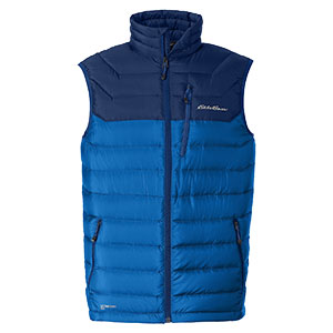 photo: Eddie Bauer Downlight StormDown Vest down insulated vest