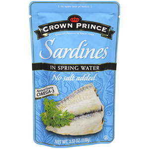 photo:   Crown Prince Sardines in Spring Water snack/side dish