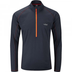 photo: Rab Men's Interval Long Sleeve Zip Tee long sleeve performance top