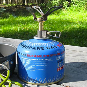 photo: BRS 3000W compressed fuel canister stove
