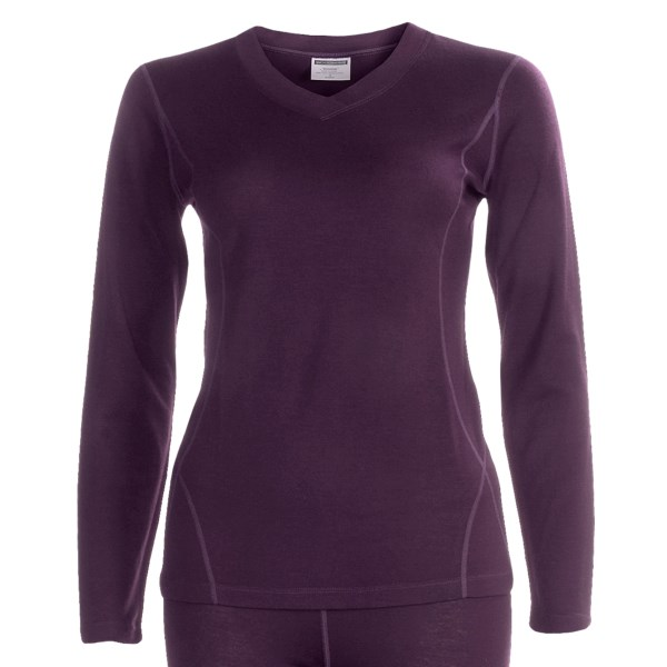 photo: Terramar Woolskins V-Neck Long Sleeve base layer top