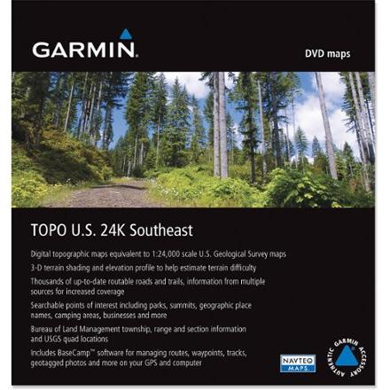 photo: Garmin TOPO U.S. 24K Southeast DVD us south map application