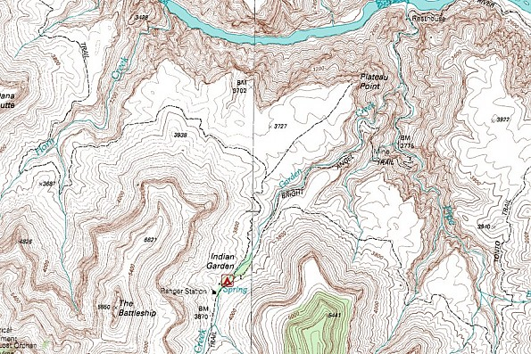 Plateau-Point-and-Horn-Canyon-trails-map