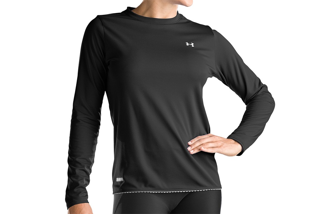 photo: Under Armour Women's ColdGear Base 1.0 Crew base layer top