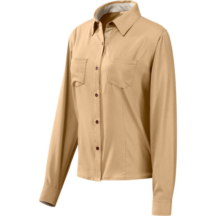 photo: GoLite Women's Paparoa Longsleeve Travel Shirt hiking shirt