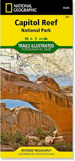 National Geographic Capitol Reef National Park Trail Map