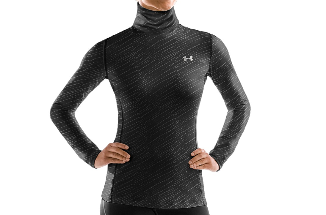 Under Armour ColdGear Fitted Printed Turtle Neck