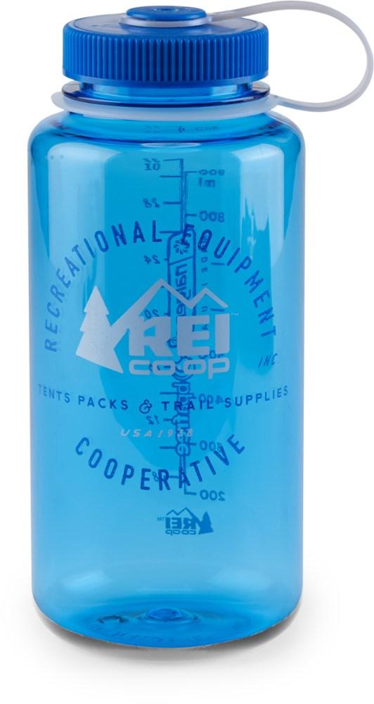 REI Nalgene Logo Wide-Mouth Loop-Top Water Bottle