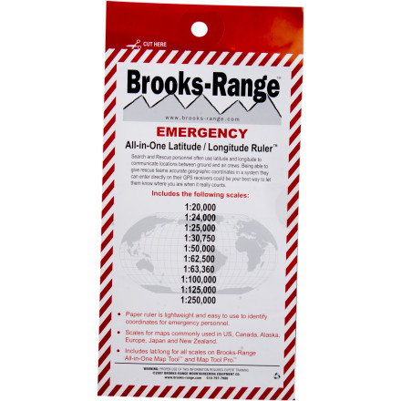 Brooks-Range Emergency Latitude/Longitude Ruler