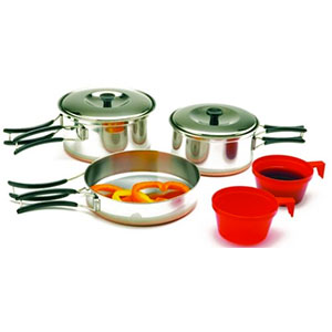Texsport Stainless Steel 2-Person Cook Set