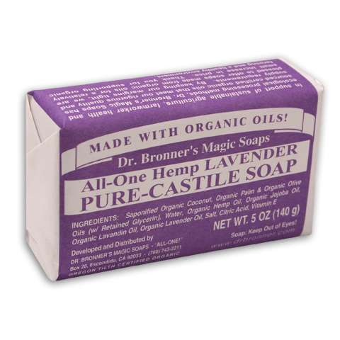 photo: Dr. Bronner Lavender Organic Bar Soap soap/cleanser